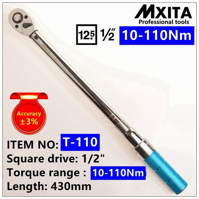 MXITA 1/4inch 1-25NM Click Adjustable Torque Wrench Bicycle Repair tools kit set tool bike repair spanner hand tool set
