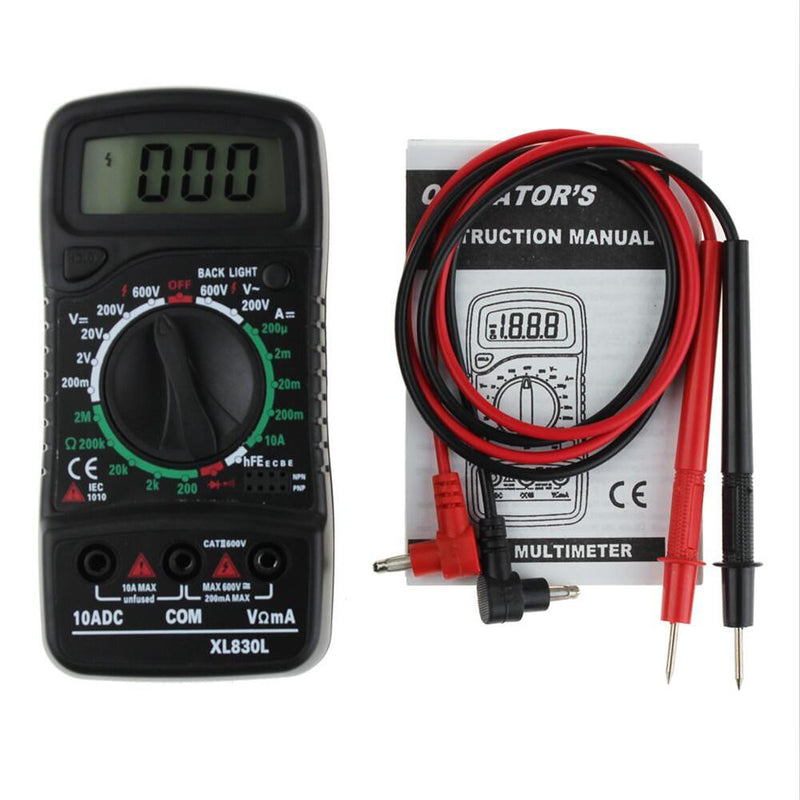 Test AC Current DC XL830L Digital Multimeter Esr Meter Testers Automotive Electrical Dmm Transistor Tester Peakmeter Capacitance
