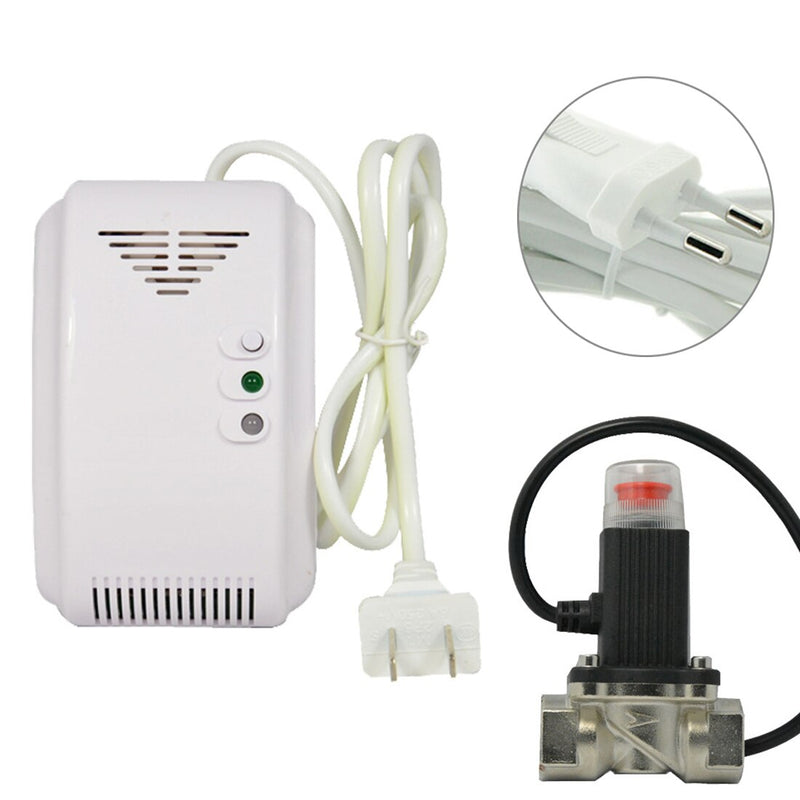 220V  Alarm System Security EU Plug Gas Detector Sensor Alarm Propane Butane LPG Natural Motorhome For Home