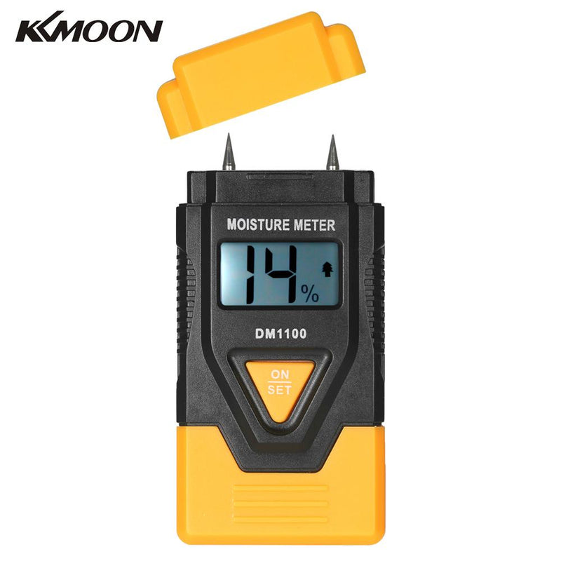 Mini 3 in 1 LCD Digital Wood Building Materials Moisture Meter Humidity Tester Detector with Ambient Temperature Measurement