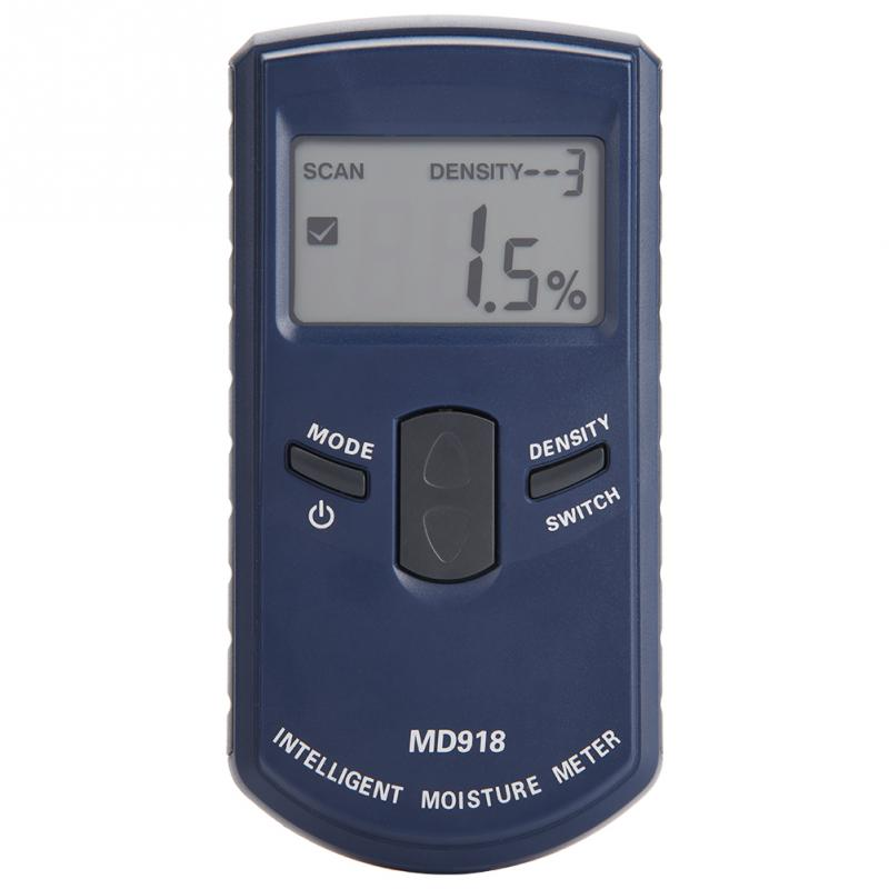 MD918 Digital LCD Inductive Wood Moisture Meter Detector Timber Humidity Tester 4~80% RH use 3 x AAA Alkaline Batteries(without)
