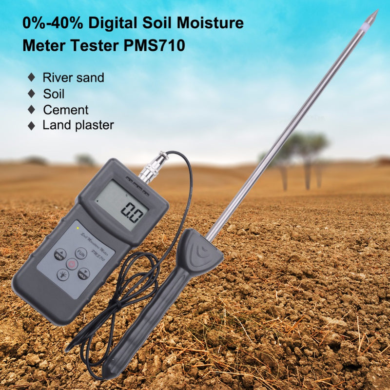 High precision soil moisture analyzer river sand/soil/cement/glass powder hygrometer 0-50%Digital Soil Moisture Meter Test Tool