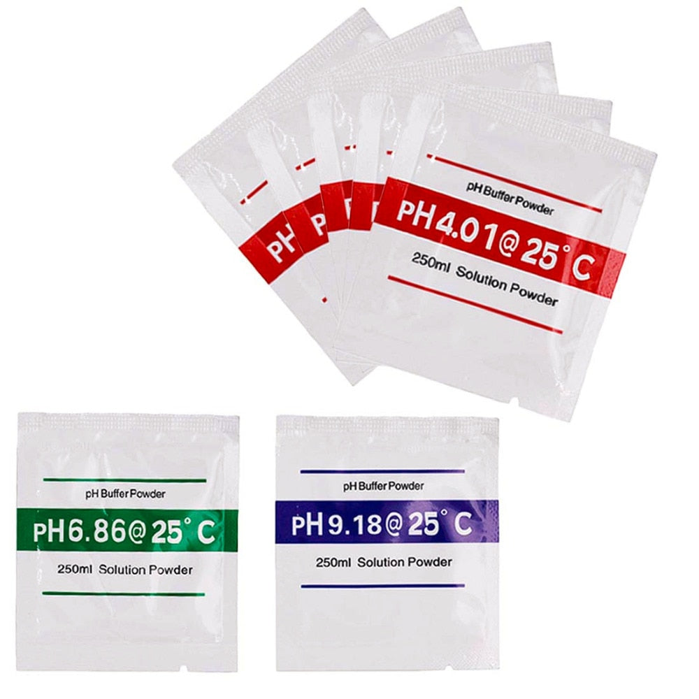 Hot 3pcs/lot PH Buffer Powder Measure Calibration Solution 4.01/ 6.86 /9.18 Calibration Point For PH Test Meter
