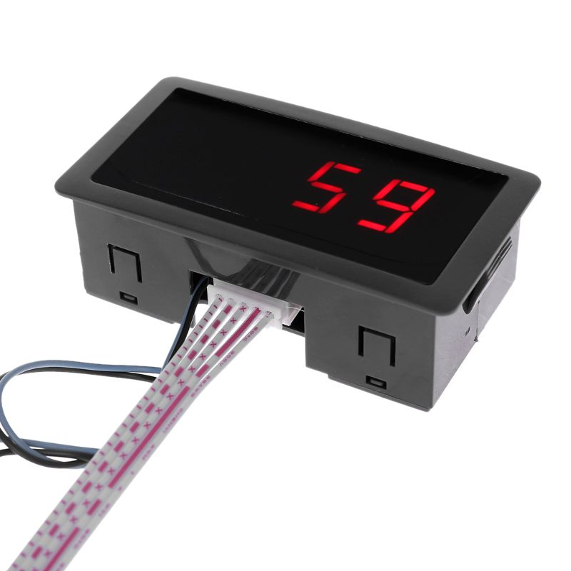 Digital Counter DC LED 4 Digit 0-9999 Up/Down Plus/Minus Panel Counter Meter with Cable qiang