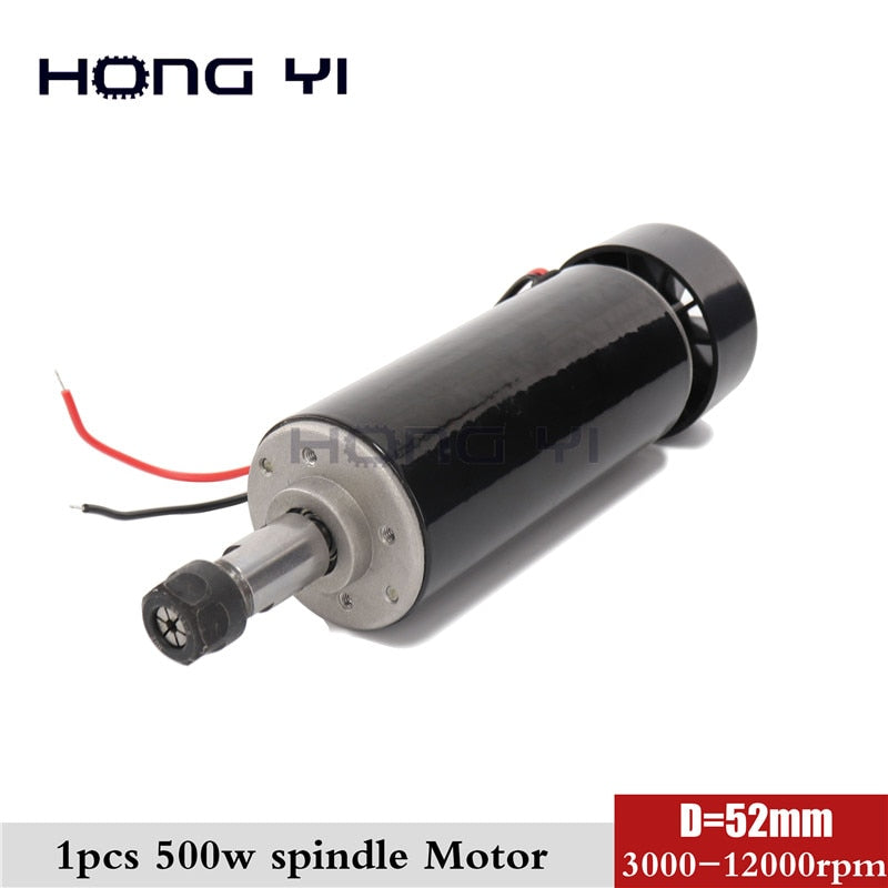 New 500W ER11 collet 52mm diameter DC 0-100 CNC Carving Milling Air cold Spindle Motor For Engraving runout less than 0.01 mm