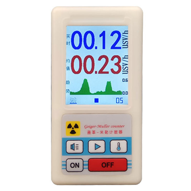 Geiger Counter Nuclear Radiation Detector Dosimeters Marble Tester With Display Screen Radiation Dosimeter Geiger Counters