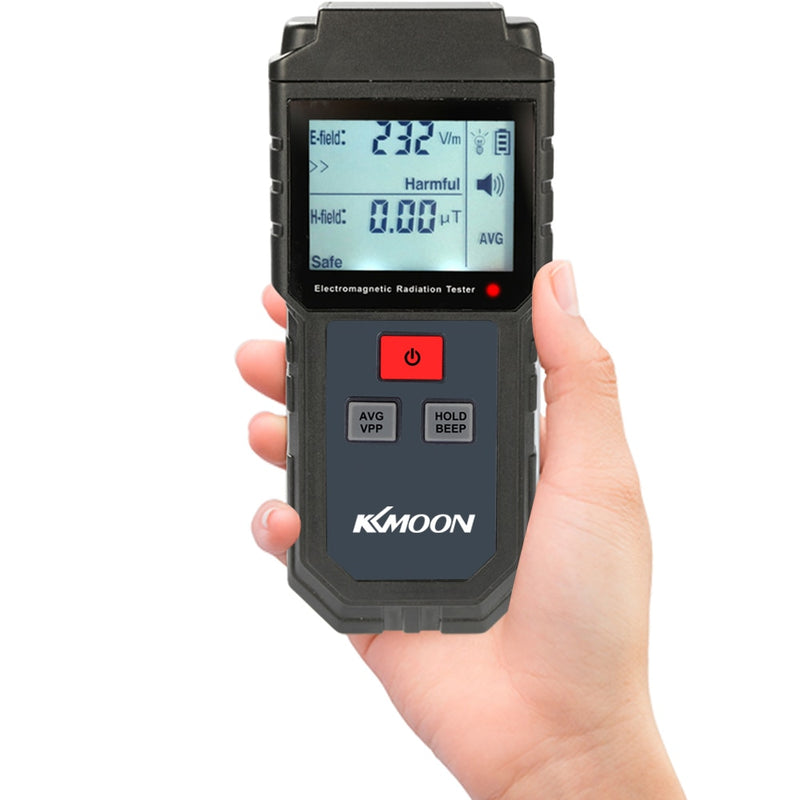 Digital Portable LCD Electromagnetic Radiation Tester Electric Field Magnetic Field Dosimeter Detector with Sound Light Alarm