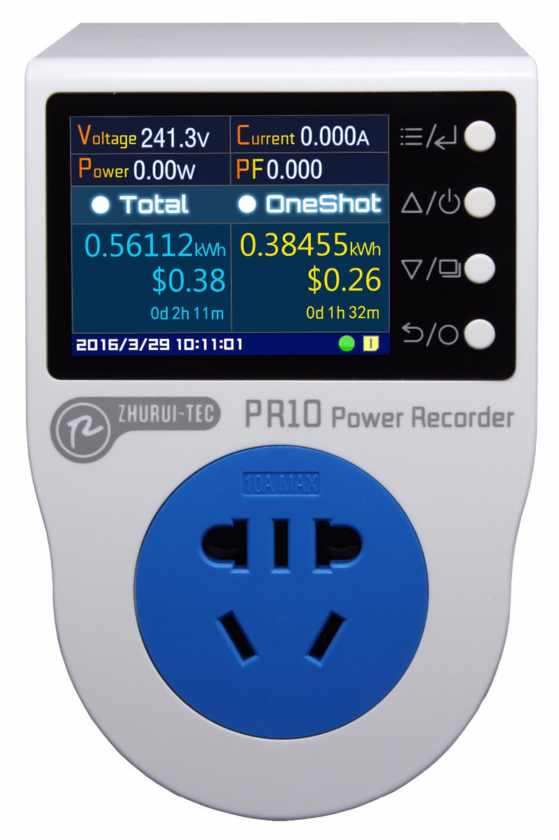 PR10-A AU 10A plug / power recorder/ energy meter/ can measure/record/ alarm/ timing/ 0.1~2500w