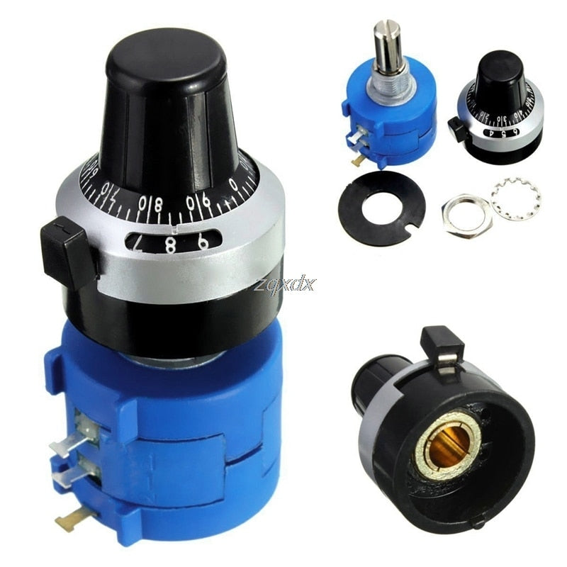 1Pc 10K Ohm 3590S-2-103L Potentiometer With 10 Turns Counting Dial Rotary Knob Electronic Components R15 Drop ship