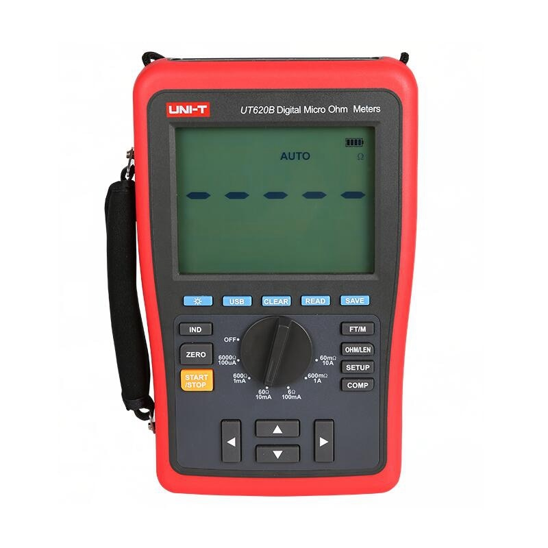 UNI T UT620B DC Digital Micro Ohm Meters low resistance tester four-wire measurement data storage USB Transmission belt backligh