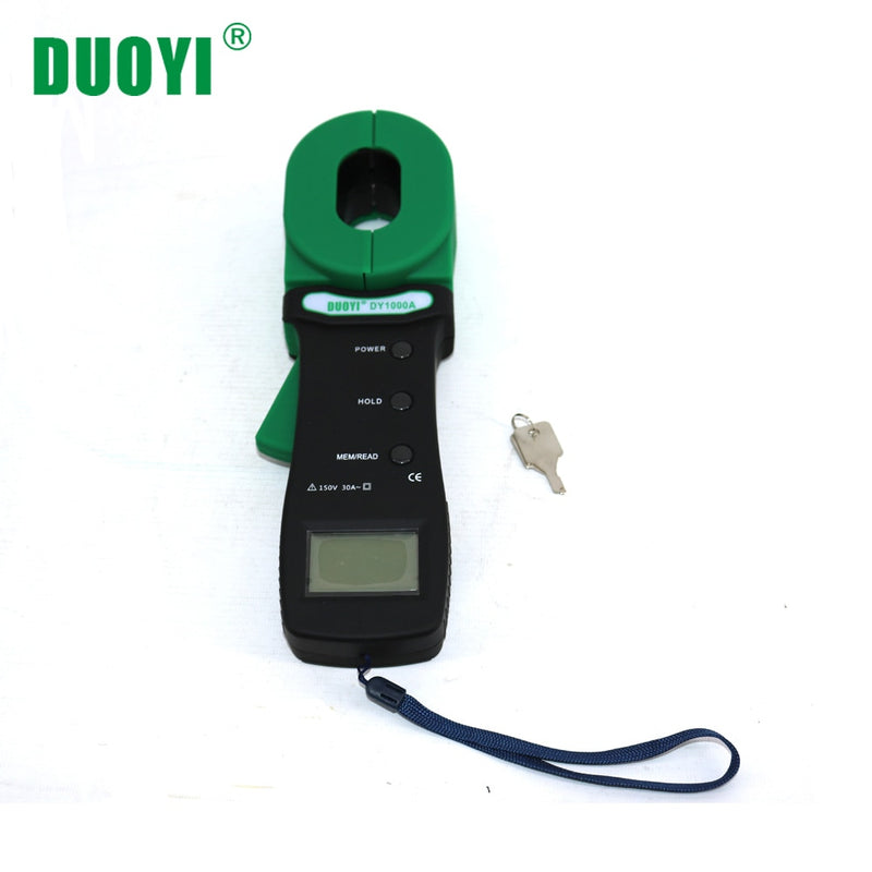DUOYI DY1000A Ground Resistance Tester Clamp Meter Industrial Electronic Circuit Resistance Test Tool Clamp-on Ground Resistance