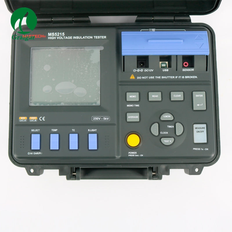 High Power MS5215 Digital Insulation Resistance Tester Built-in Voltage Generator