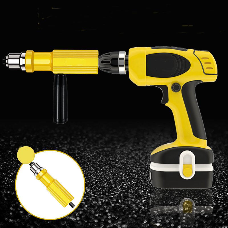 New Electric Rivet Nut Gun Riveting Tool Cordless Riveting Drill Adaptor Insert Nut Tool Riveting Drill Adapter