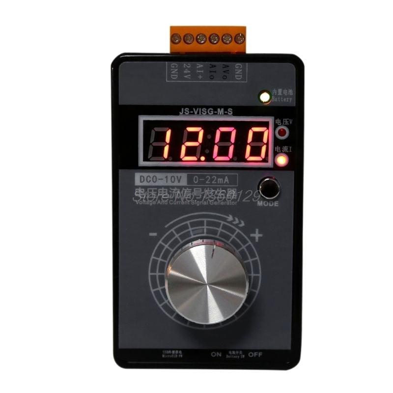 High Precision Handheld Portable 0-10V 0-22mA Signal Generator Adjustable Current Voltage Analog Simulator With LED Display