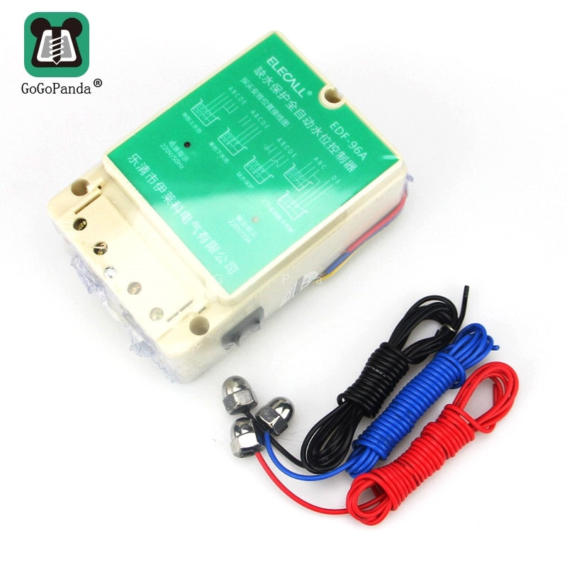 Free Shipping DF96A Auto Water Level Controller  AC220V 10A Din Rail Mount Electronic Float Switch With 3 Probes Pump