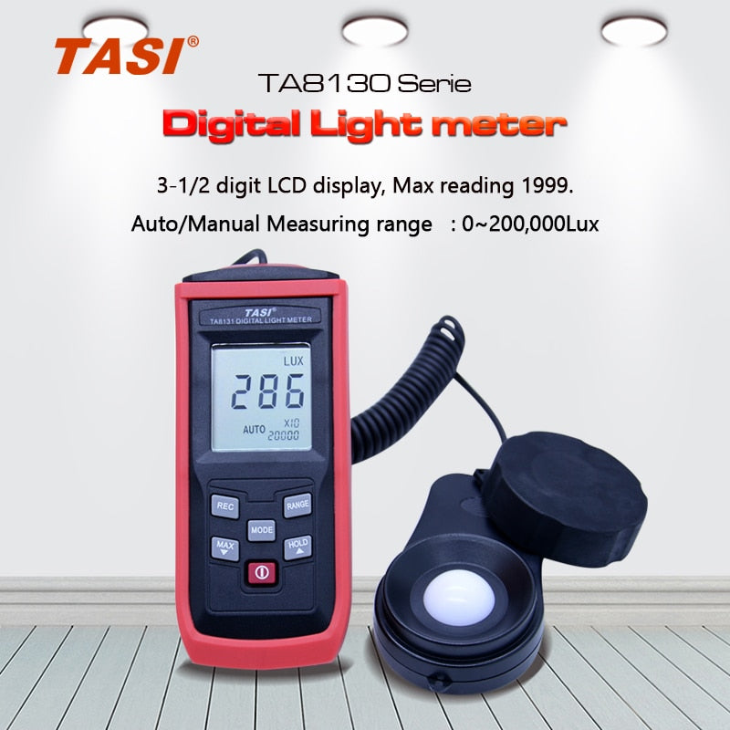 TASI TA8130 TA8131 TA8132 TA8133 Digital lux Light Meter 0~100,000Luxmeter 50 data hold with LCD backlight display function