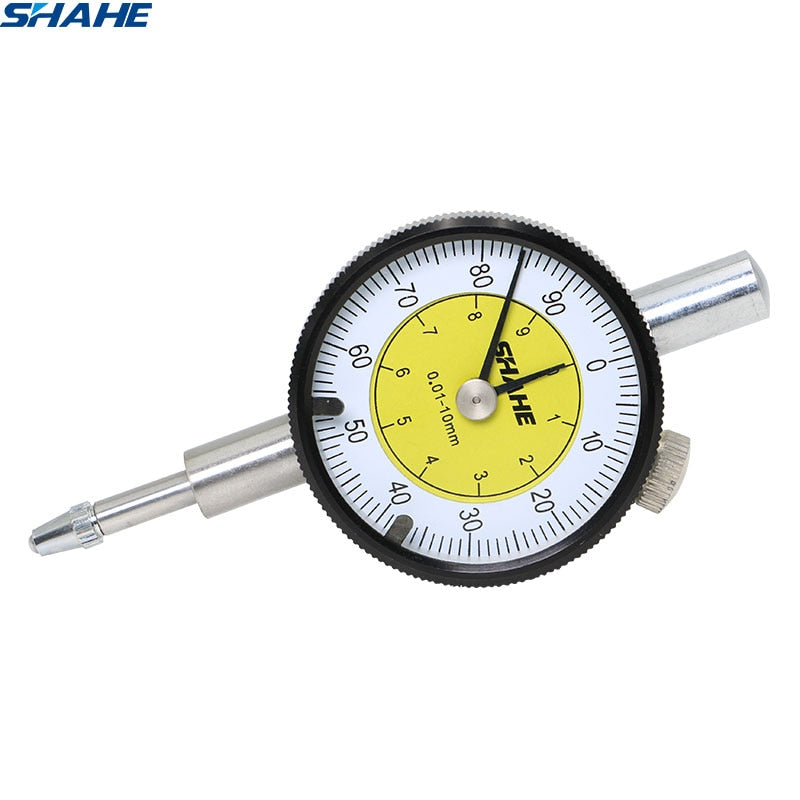 SHAHE MINI Dial Indicator 0-10 mm Meter Precise 0.01 mm Resolution Dial indicator Gauge Measurin Tool