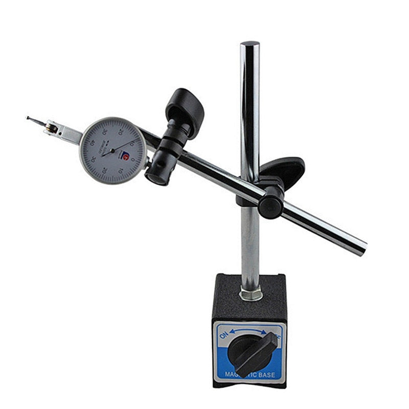Magnetic Base Holder With Double Adjustable Pole For Dial Indicator Test Gauge with Convenient ON/OFF Switch for Automotive