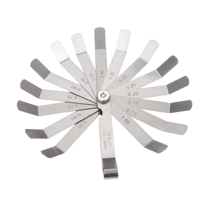 DRELD 1pc Metric 16 Blades Feeler Gauge Measuring Tools 0.05-1.00mm Thickness Gage Gap Filler Gauge for Measurement Tools