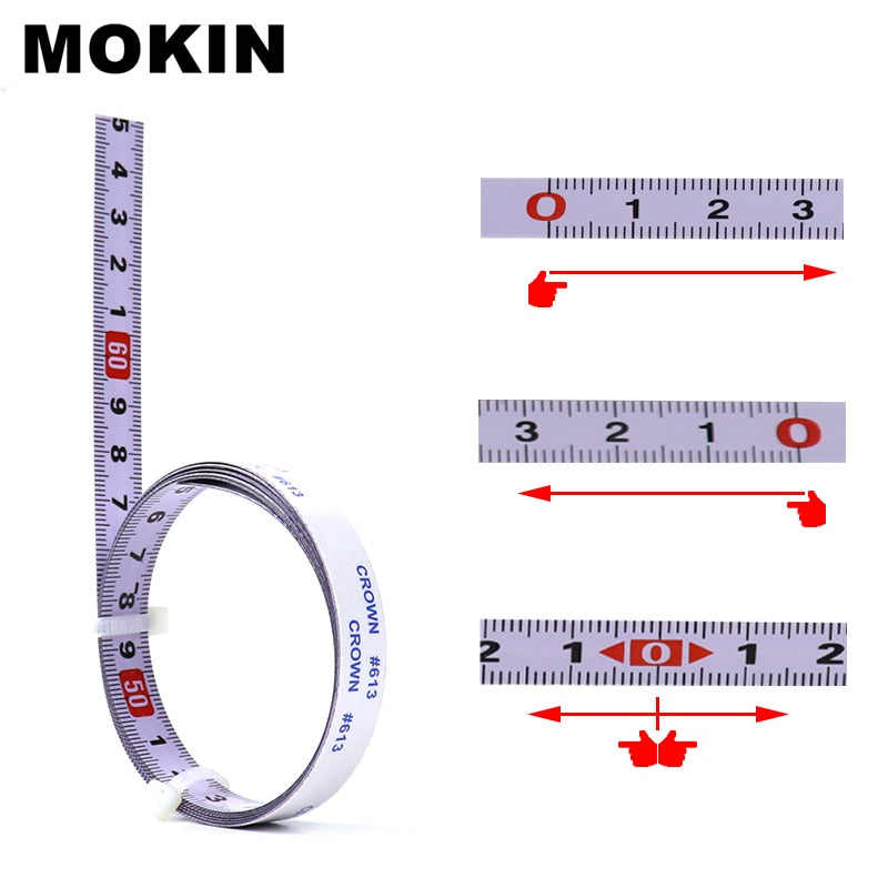 Miter Track Tape Measure Metric Self Adhesive Miter Saw Scale Steel Ruler For Router Table Saw T-track Woodworking Tools