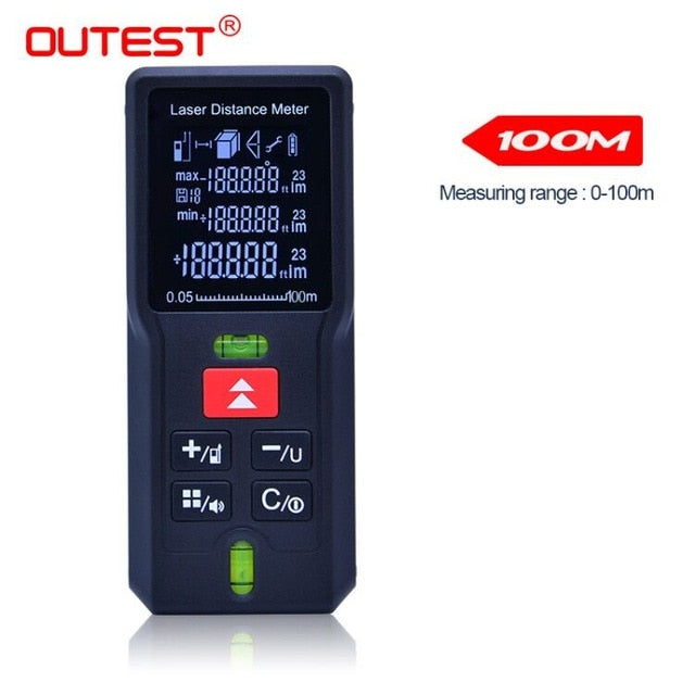 OUTEST laser distance Meter trena laser Tape measure Diastimeter tester tool Mini Digital Laser Rangefinder 40M 60M 80MM 100M