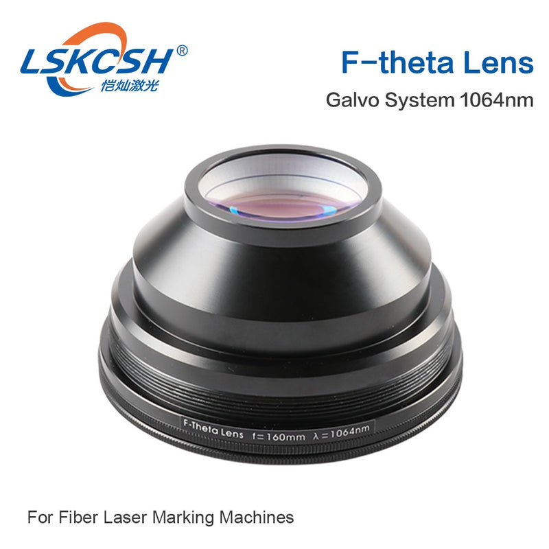 LSKCSH F-theta Scan Lens Field Lens 1064nm 50x50 - 300x300 F63-420mm for 1064nm YAG Optical Fiber Laser Marking Machine Parts