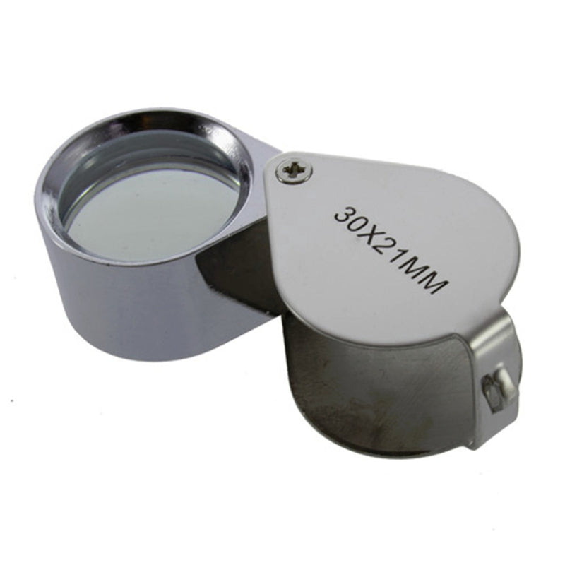 OUTAD Mini 30X Glass Magnifying Magnifier Jeweler Eye Jewelry Loupe Loop 30*21mm Triplet Jewelers Eye Glass