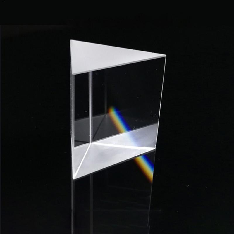 Optical Glass Triangular Prisms Right Angle Isosceles Prisms Lens Optical K9 Glass Material Testing Instrument 10mm*10mm*10mm