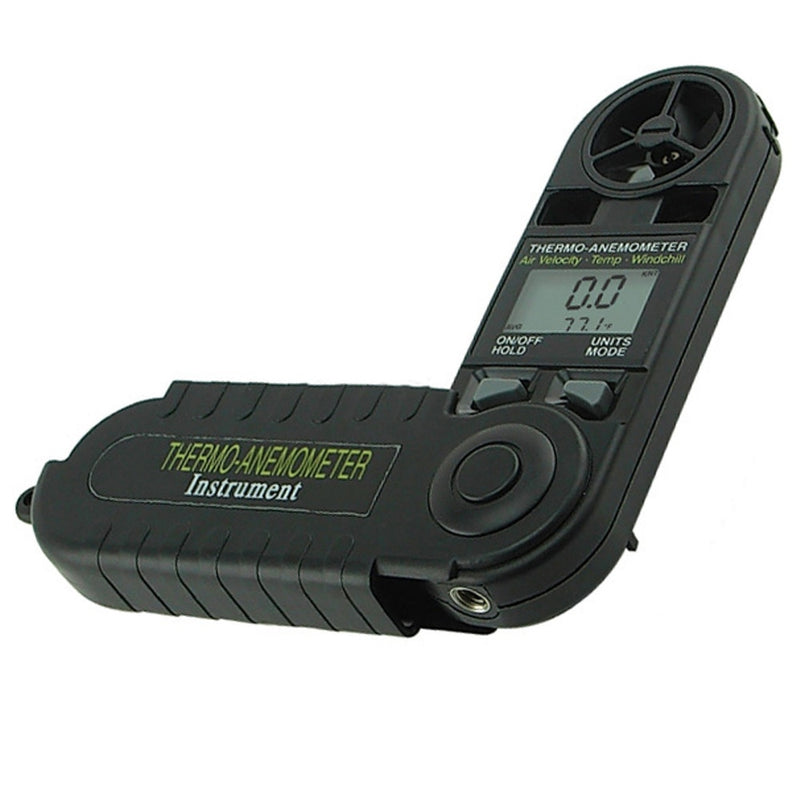 Digital 3-in-1 Pocket Thermo Anemometer Temperature Windchill Air Velocity Beaufort Force Weather Meter