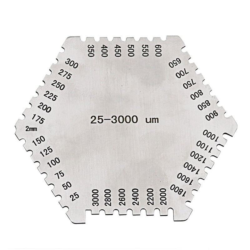 GTBL High precision hexagon stainless steel Wet film comb 25-3000um wet film thickness gauge