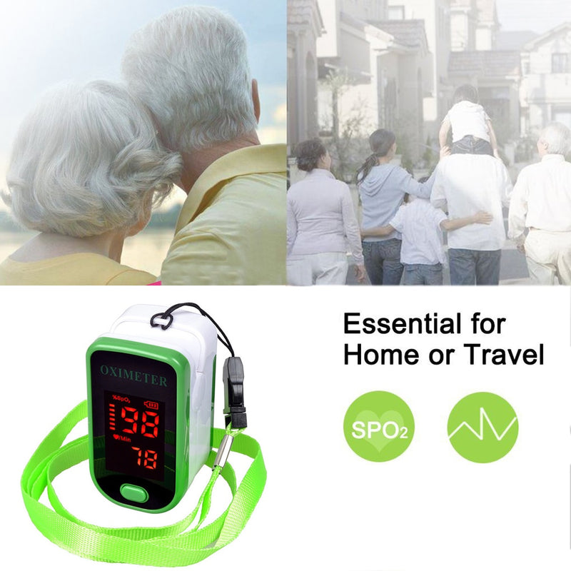 Finger Pulse Oximeter Spo2 PR Monitor Fingertip Heart Rate Detection Meter Blood Oxygen Sensor Saturation Monitor Green