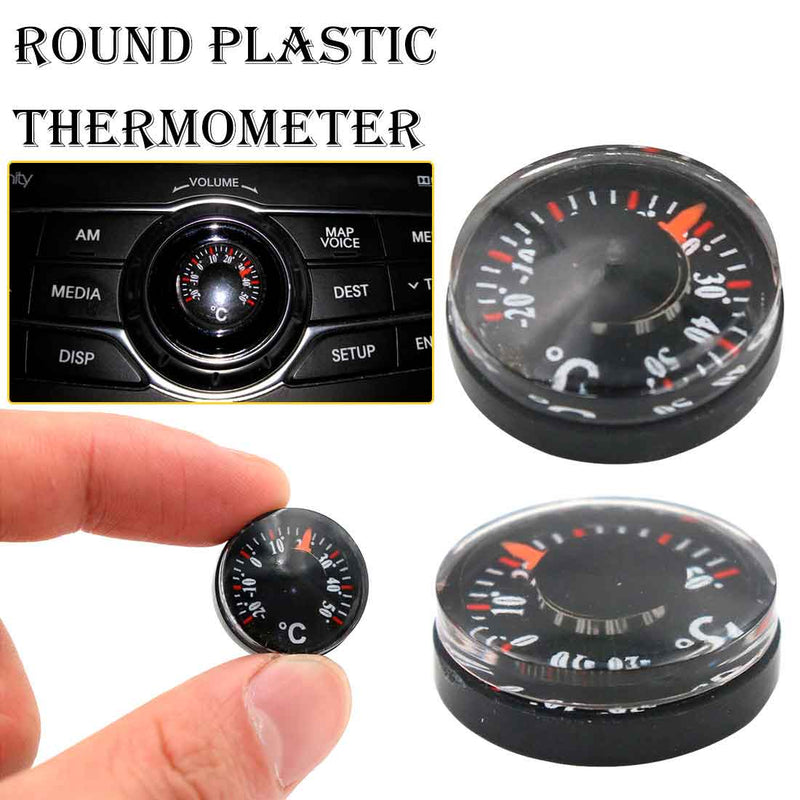 Mini Round Diameter 20mm Outdoor Waterproof Plastic Circular Car Thermometer pointer Degrees Celsius Thermometer