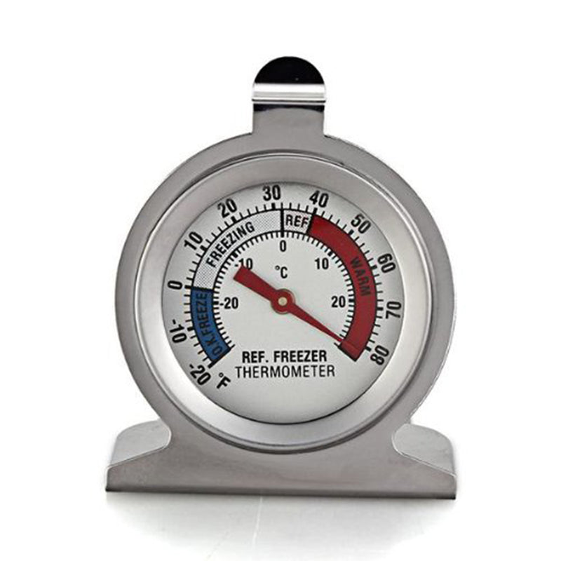New  High Quality Stainless Steel Dail Dial Type Thermometer for Refrigerator Fridge Kitchen Freezer Use