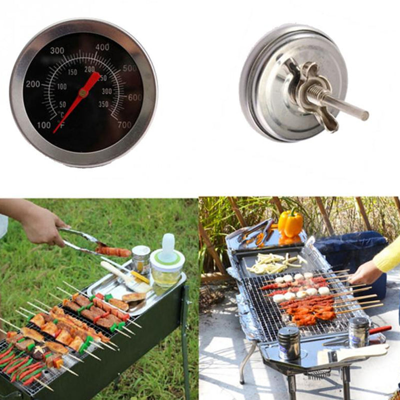 Stainless Steel Oven Thermometers BBQ Smoker Pit Grill Bimetallic Thermometer Temp Gauge With Dual Gage 500 Degree Cooking Tools