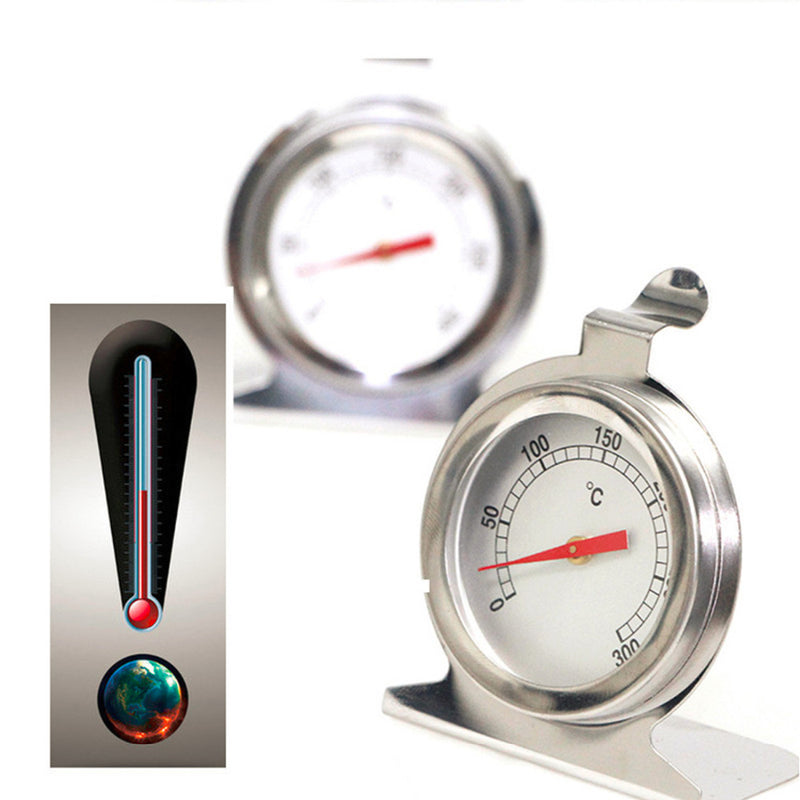 1PCS Stainless Steel Dial Oven Thermometer Cooking Termometer Grill Food Meat Thermometer Adjustable Stand Up Hange Thermomer