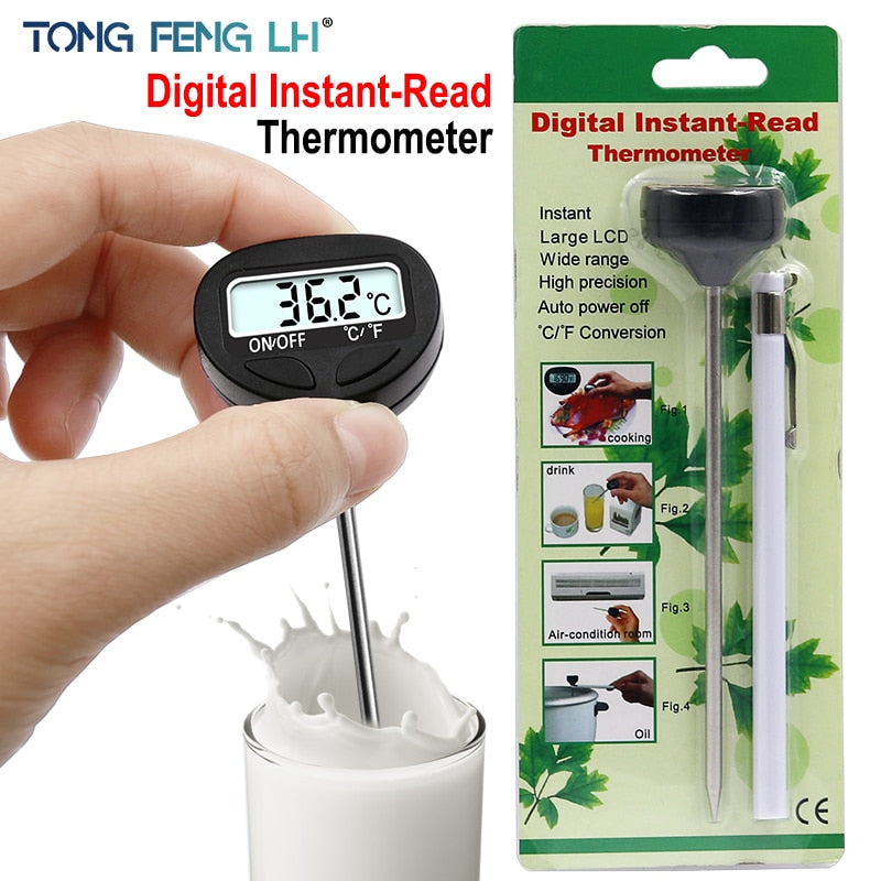 Electronic Digital Food Thermometer For Cake Candy Fry BBQ Food Meat Temperature Household Thermometers with Long Probe
