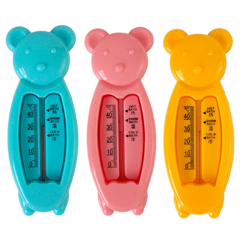 Plastic Baby Bath Tub Water Sensor Thermometer Lovely Baby Water Thermometer Cartoon Floating Bear Kids Bath Thermometer Toy