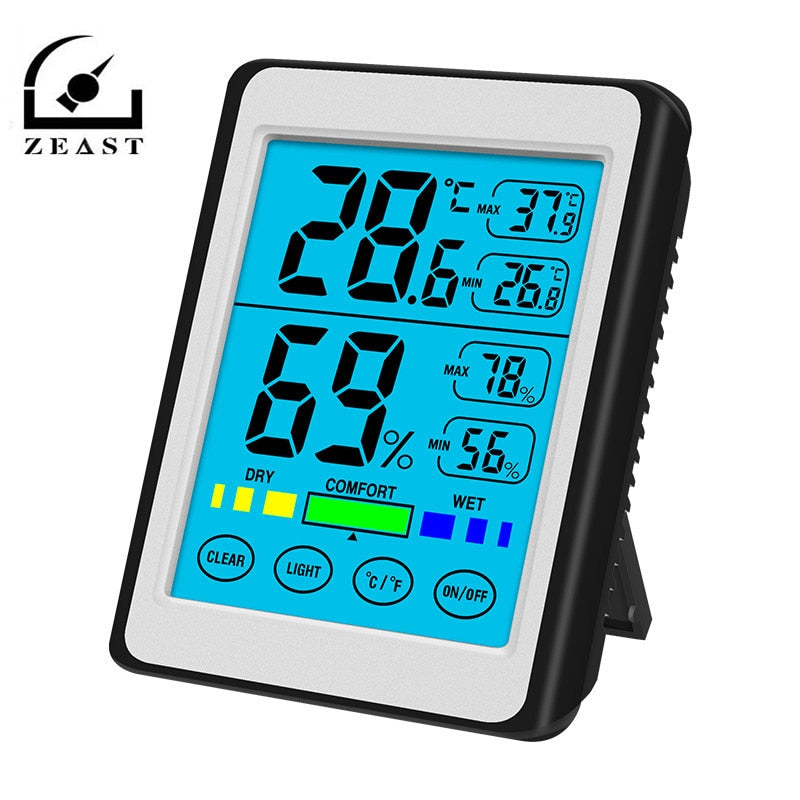 High Precision  Backlight Touch- Electronic Digital Display Temperature Hygrometer LCD Weather Station