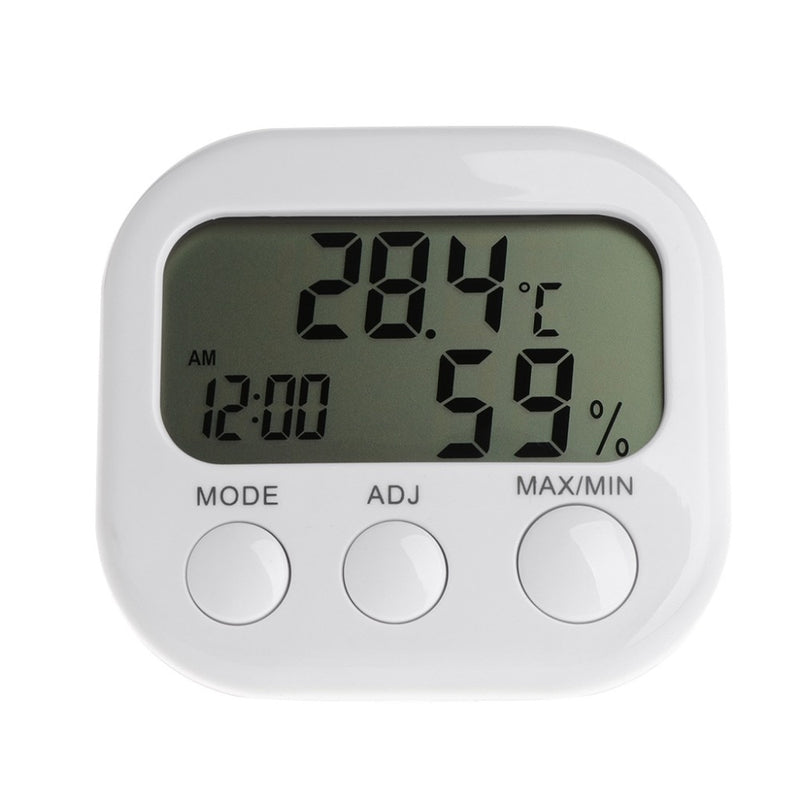 ANENG Digital LCD Thermometer Humidity Meter Hygrometer Max Min Air Temperature Clock