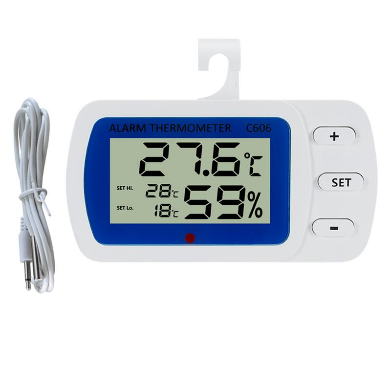 C606 Home High-Precision Electronic Thermometer Hygrometer Home Pet Refrigerator Thermometer Frost Alarm