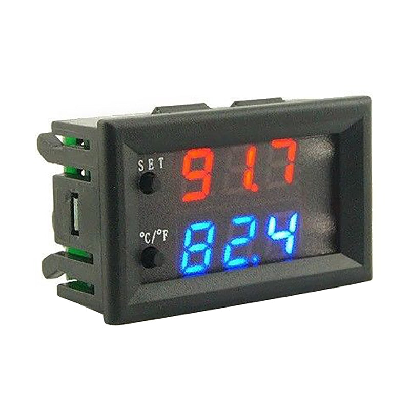 Dc 12V Led Digital Thermostat Temperature Controller Temp Sensor Control W2809