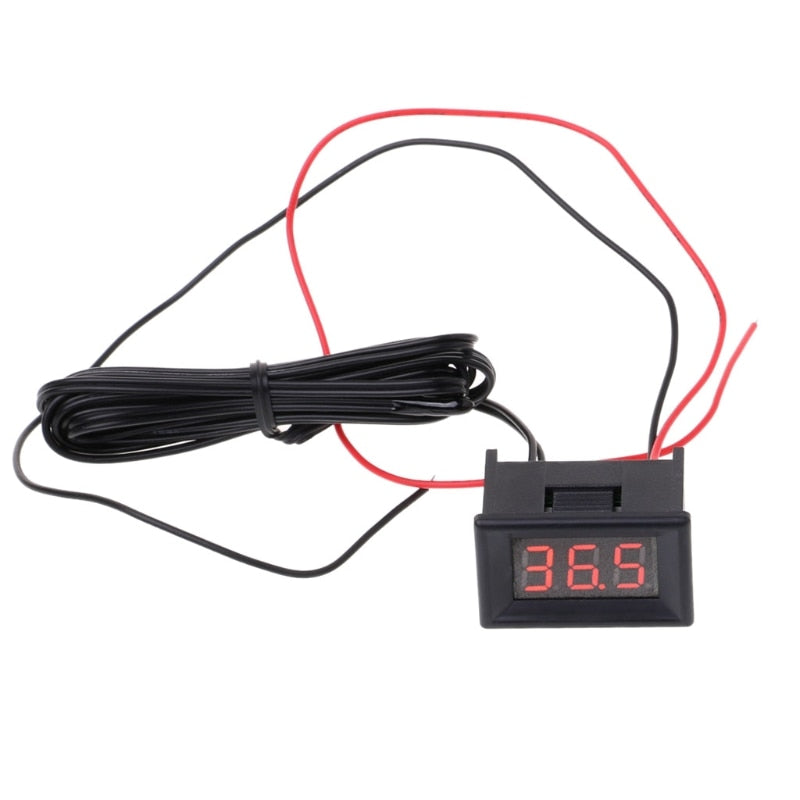 1PC LED Digital Thermometer Car Probe Fridge Freezer Thermometer Thermograph for Refrigerator -40~ 120 Degree DIY Refitting