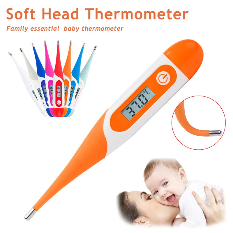 Soft Head Electronic LCD Display Thermometer Digital Baby Adult Medical Thermometre Body Fever Temperature Measuring Tools