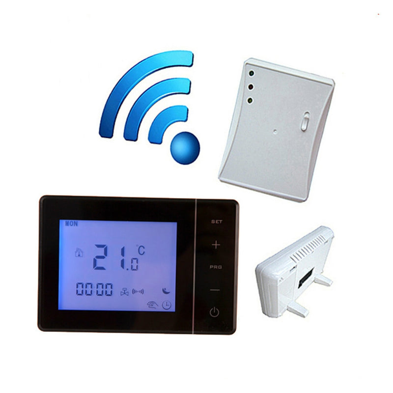 Hot 433MHZ Wireless Gas Boiler Thermostat RF Control 5A Wall-hung Boiler Heating Thermostat Digital LCD Temperature Controller