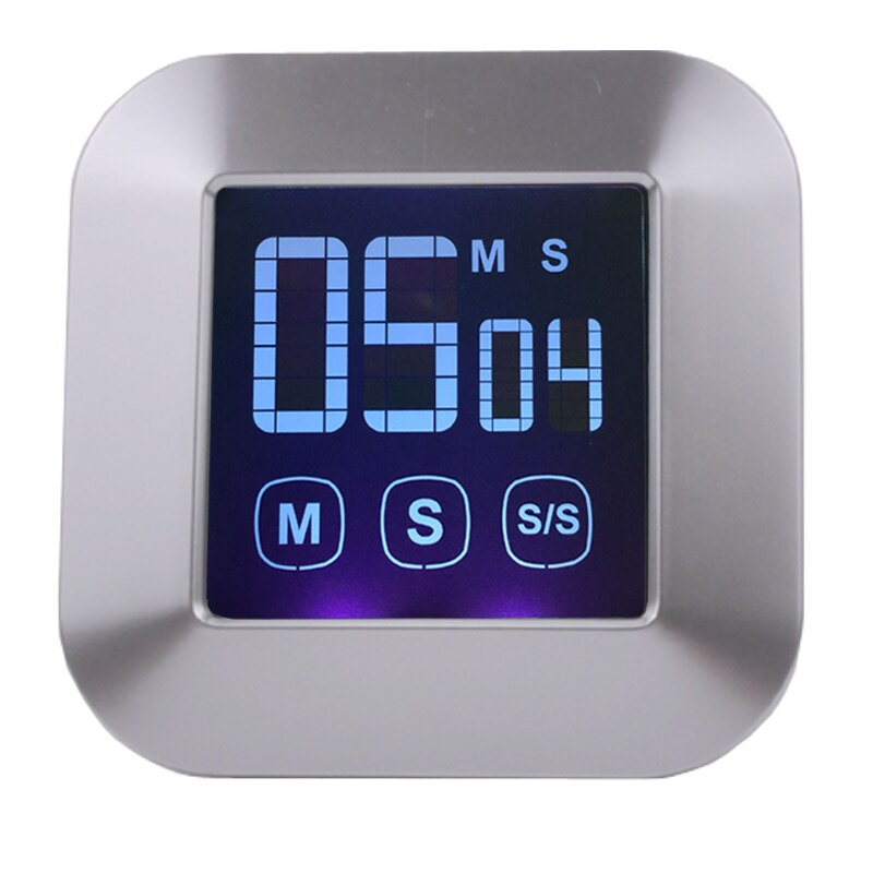 Large LED display touch screen kitchen timer, electronic digital timer, free shipping
