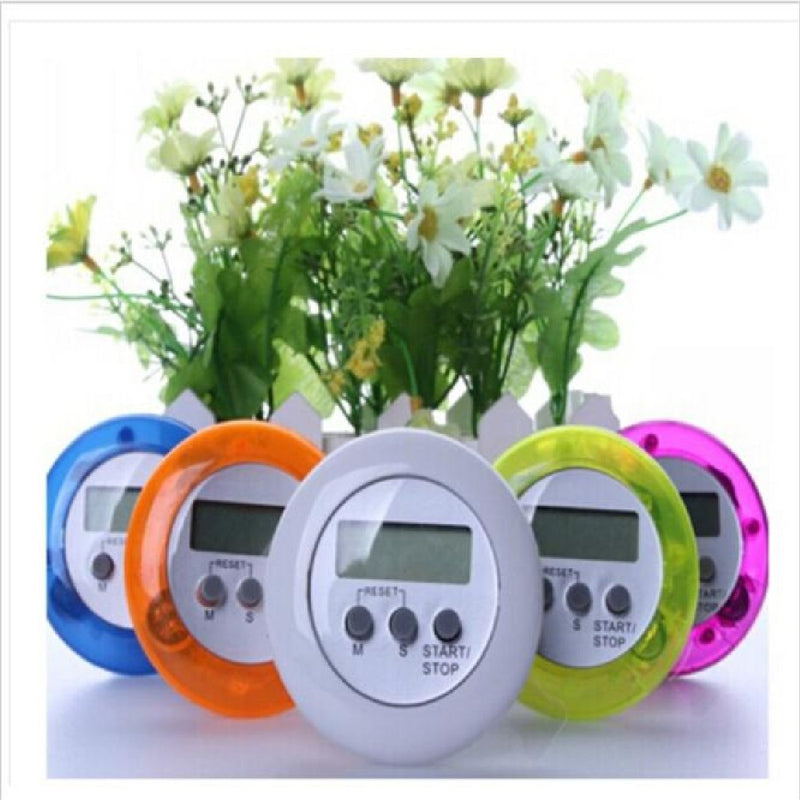 Random color Digital Magnetic LCD Stopwatch Timer Kitchen Racing Alarm Clock Stop Watch