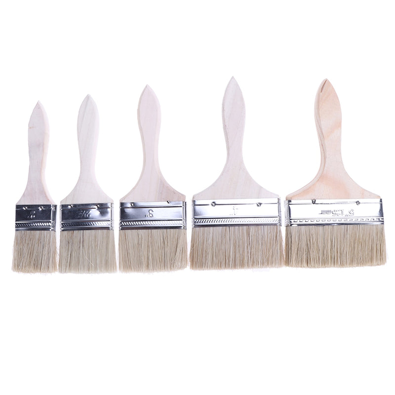 5Pcs Thickened Painting Chip Brushes for Adhesives Paint Touchups Painter Supplies