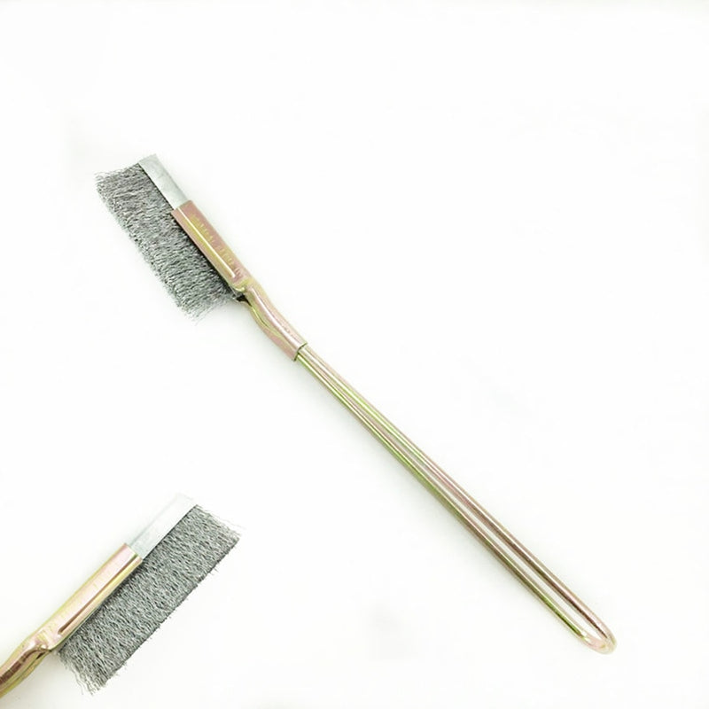 1PC Stainless Steel Wire Brush Gap Groove Cleaning Tools Multi-function Straight Head Mini Scrubbing Rust Removal Brushes