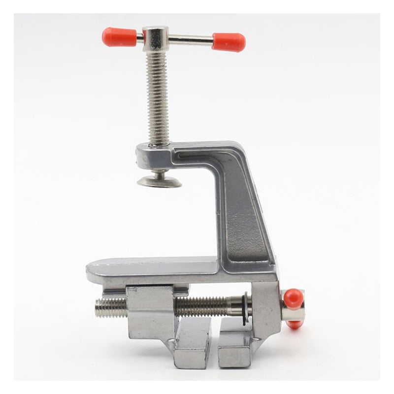 Aluminum Miniature Small Jewelers Hobby Clamp On Table Bench Vise Mini Tool Vice Muliti-Funcational