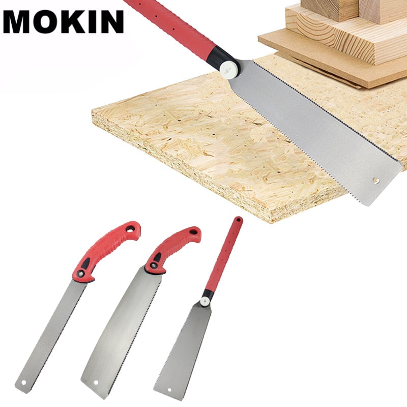 Hand Saw 3-edge Teeth Razor Saw Wood Tenon Cutter Garden Saw For Wood/Bamboo/PVC/Plastic Cutting DIY Woodworking Tools